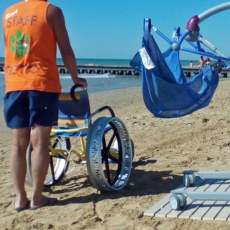 Trasporto su sabbia persone